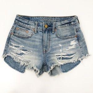 American Eagle High Rise Festive Cutt Shorts